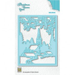 (CRSD005)Nellie's choice Christmas scene dies Snowy village