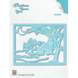 (CRSD007)Nellie's choice Christmas scene dies Moonlight winternight