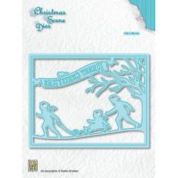 (CRSD008)Nellie's choice Christmas scene dies Snowfun!!!