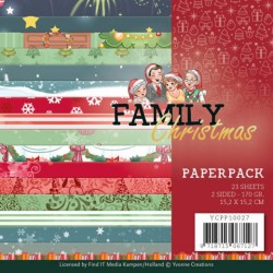 (YCPP10027)Paperpack - Yvonne Creations - Family Christmas