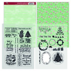 (YCMC1004)Mica Sheets - Yvonne Creations - Family Christmas