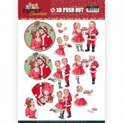 (SB10391)3D Pushout - Yvonne Creations - Family Christmas - Loving Christmas
