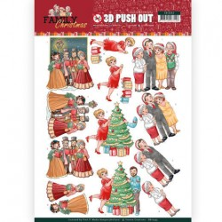 (SB10393)3D Pushout - Yvonne Creations - Family Christmas - Celebrate Christmas