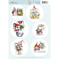 (99070/002)10x topper sheet Gnome for Christmas 1