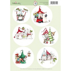 (99070/003)10x topper sheet Gnome for Christmas 2