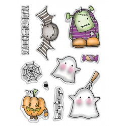 (PD7457)Polkadoodles FAB-BOO-LOUS Clear Stamps