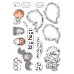 (PD7459)Polkadoodles Spooktacular Clear Stamps