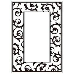 Embossing folder scrollwork frame (CTFD 3050)