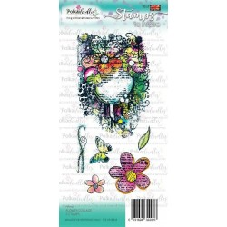 (PD7927)Polkadoodles Flower Collage Clear Stamps
