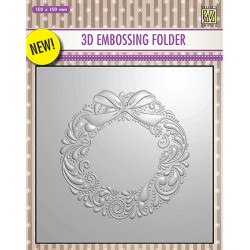 (EF3D007)Nellie's Choice Embossing folder Christmas Wreath