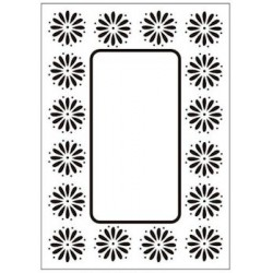 Embossing folder daisy frame (CTFD 3049)