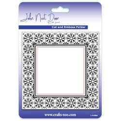 (JNDEF3007)John Next Door Cut and Emboss Folders - Snowflower Frame