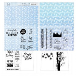 (YCMC1006)Mica Sheets - Yvonne Creations - Sparkling Winter