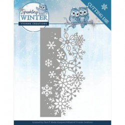 (YCD10189)Dies - Yvonne Creations - Sparkling Winter - Sparkling Border