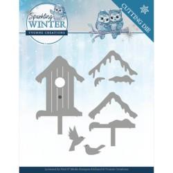 (YCD10190)Dies - Yvonne Creations - Sparkling Winter - Winter Birdhouse