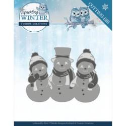 (YCD10191)Dies - Yvonne Creations - Sparkling Winter - Sparkling Snowmen