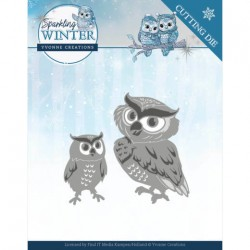 (YCD10192)Dies - Yvonne Creations - Sparkling Winter - Winter Owls