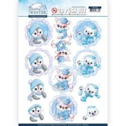 (SB10403)3D Pushout - Yvonne Creations - Sparkling Winter - Winter Friends