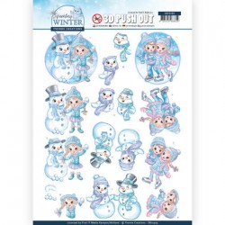 (SB10405)3D Pushout - Yvonne Creations - Sparkling Winter - Winterfun