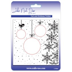 (JNDEF3008)John Next Door Cut and Emboss Folders - Hanging Baubles