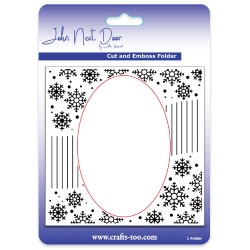 (JNDEF3012)John Next Door Cut and Emboss Folders - Snowflake Swirl