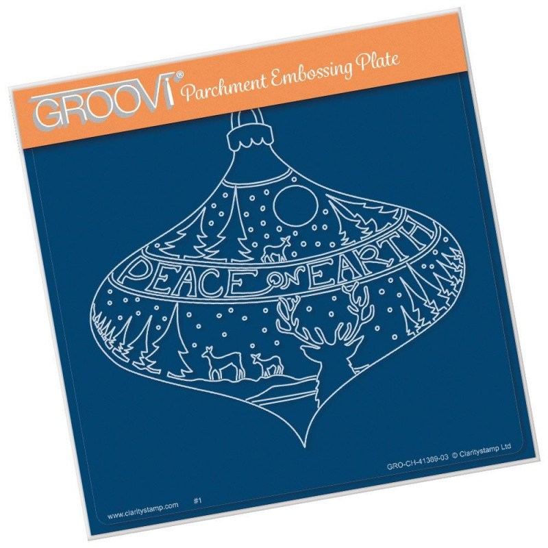 (GRO-CH-41389-03)Groovi Plate A5 PEACE ON EARTH BAUBLE