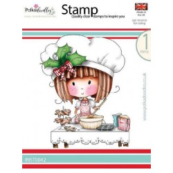 (INST0042)Polkadoodles stamp Winnie Gingerbread