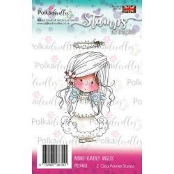 (PD7463)Polkadoodles stamp Winnie Angelic