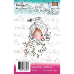 (PD7464)Polkadoodles stamp Winnie Light the way
