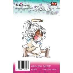 (PD7465)Polkadoodles stamp Winnie Snow tweet
