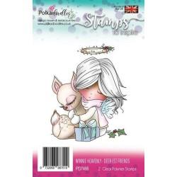 (PD7466)Polkadoodles stamp Winnie Deer-est friends