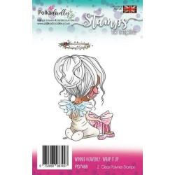 (PD7468)Polkadoodles stamp Winnie Wrap it up