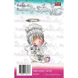 (PD7470)Polkadoodles stamp Winnie Love ewe