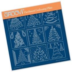 (GRO-CH-41378-15)Groovi Plate A4 BARBARA'S CHRISTMAS TREE SAMPLER