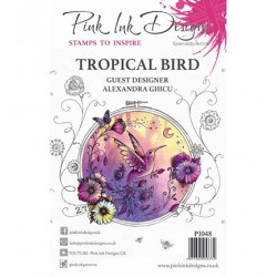(PI048)Pink Ink Desings Tropical Bird