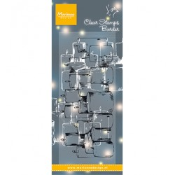 (TC0878)Clear stamp Tiny's border - Candles