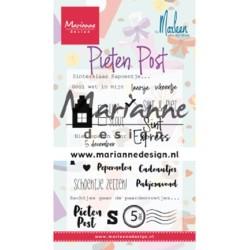 (CS1042)Clear stamp Pietenpost by Marleen