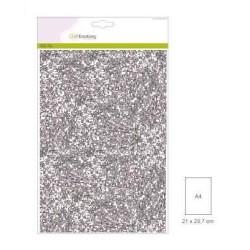 (001290/0165)CraftEmotions glitterpapier 5 vel zilver +/- 29x21cm 120gr