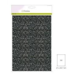 (001290/0170)CraftEmotions glitterpapier 5 vel zwart +/- 29x21cm 120gr