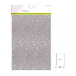 (001290/0160)CraftEmotions glitter paper 5 Sh white +/- 29x21cm 120gr