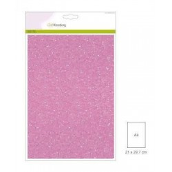 (001290/0140)CraftEmotions glitter paper 5 Sh roze +/- 29x21cm 120gr