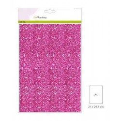 (001290/0135)CraftEmotions glitter paper 5 Sh cyclaam +/- 29x21cm 120gr