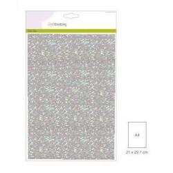 (001290/0110)CraftEmotions glitterpapier 5 vel babyblauw +/- 29x21cm 120gr