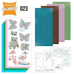 (SPDO023)Sparkles Set 23 - Floral pink