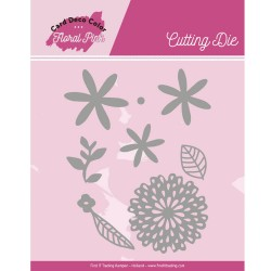 (CDCCD10001)Dies - Yvonne Creations - Floral Pink - Floral Pink Flowers