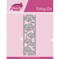 (CDCCD10004)Dies - Yvonne Creations - Floral Pink - Floral Pink Border