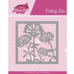 (CDCCD10005)Dies - Yvonne Creations - Floral Pink - Floral Pink Square