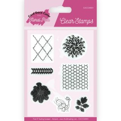 (CDCCS10001)Clear Stamps - Yvonne Creations - Floral Pink