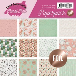 (CDCPP10001)Foiled Paperpack - Yvonne Creations - Floral Pink