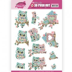 (SB10411)Card Deco Color - Yvonne Creations - Kitschy Lala - Kitschy Owls